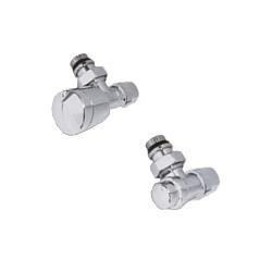 Хромированный комплект соединения IVR для многослойной и PE-X трубы угловой, арт. 177405005