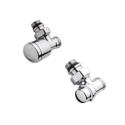 Хромированный комплект соединения IVR для стальной трубы угловой, арт. 177705185
