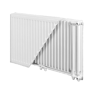 Стальной панельный радиатор BJORNE Ventil Compact 300х1200, тип 22 (нижнее подключение)