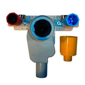 Сифон HL встраиваемый в стену с вынимаемым сифонным вкладышем и монтажной плитой, HL134
