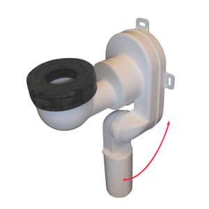 Сифон HL для писсуаров с вертикальным отводом, с присасывающимся резиновым уплотнением, HL431