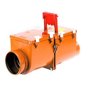 HL 2-х камерный механический канализационный затвор с запирающими заслонками из профилированной нержавеющей стали, HL712.2