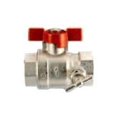 """Полнопроходной шаровый кран IVR 3/4"""" с заглушкой и спускным краном, арт. 106807002"""