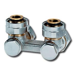"""Heimeier Клапан для нижнего подключения VEKOTEC, для двухтрубной системы, G 3/4"""", угловой, никел  бронза, 0553-50.000"""