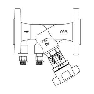 "Регулирующий вентиль Oventrop ""Hydrocontrol VFR"" PN16 Ду50 фланц. (бронз.), Арт. 1062350"