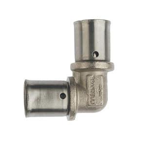 Prandelli Multyrama Угольник 16x2,0 соединительный для металлопластиковых труб прессовой 109.06.11.6