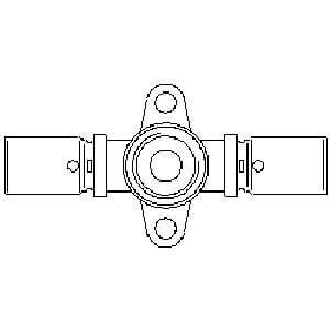"Пресс-проход с креплением Oventrop 16х16мм х Rр 1/2"" , Арт. 1517243"