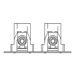 Пресс-шина  Oventrop 16х2,0мм x Rp 1/2  80мм плоская, с укороч. отводами, Арт. 1518184