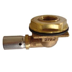 """Выпускное колено Oventrop G 3/4"""" HP x Rp 1/2"""" с прессоединением 16 х 2,0 мм, Арт. 1517443"""
