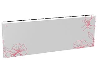 Дизайн-радиатор Lully коллекция Ирисы  1120/450/115 (цвет розовый) боковое подключение с термостатикой