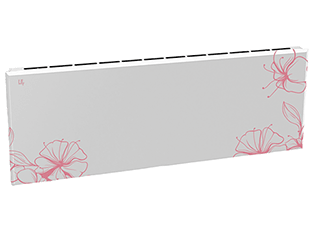 Дизайн-радиатор Lully коллекция Ирисы  1120/450/115 (цвет розовый) нижнее подключение