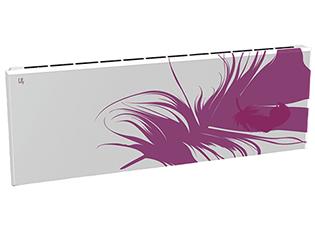 Дизайн-радиатор Lully коллекция Перо  1120/450/115 (цвет фиолетовый) боковое подключение с термостатикой