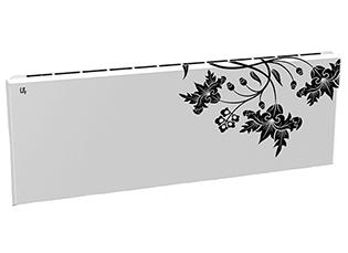 Дизайн-радиатор Lully коллекция Весна  1120/450/115 (цвет черный) нижнее подключение с термостатикой