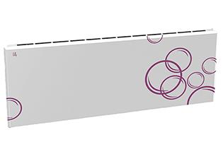 Дизайн-радиатор Lully коллекция Мыльные пузыри 1120/450/115 (цвет фиолетовый) подключение в стену