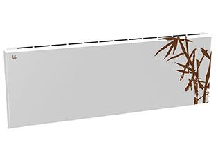 Дизайн-радиатор Lully коллекция Бамбук 1120/450/115 (цвет коричневый) боковое подключение с термостатикой