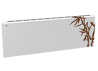 Дизайн-радиатор Lully коллекция Бамбук 1120/450/115 (цвет коричневый) в стену с термостатикой
