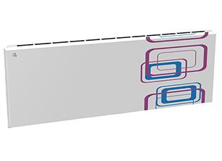 Дизайн-радиатор Lully коллекция Геометрия 1120/450/115 (цвет фиолетово-голубой) в стену с термостатикой