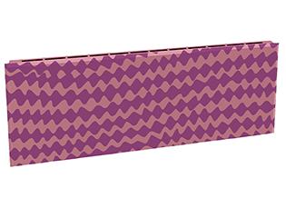 Дизайн-радиатор Lully коллекция Мираж 1120/450/115 (цвет фиолетовый) в стену с термостатикой