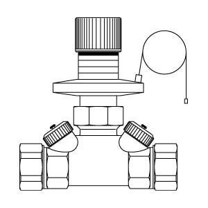 "Регулятор перепада давления Oventrop ""Hycocon DTZ"" PN16 Ду15 (50-300 мбар) латун. НГ, Арт. 1062104"