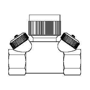 "Регулирующий вентиль Oventrop ""Hycocon ETZ"" PN16 Ду 15 1/2 BP латунь, Арт. 1068364"