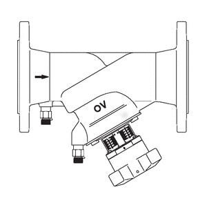 "Регулирующий вентиль Oventrop ""Hydrocontrol VFR"" PN16 Ду 80 фланц. (бронз.), Арт. 1062352"