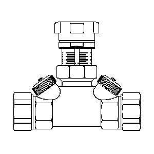 """Запорный вентиль  Oventrop """"Hycocon ATZ"""" PN16 Ду25 1 1/4"""" НГ латунь, Арт. 1067408"""