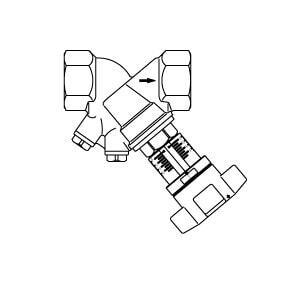 """Регулирующий вентиль Oventrop """"Hydrocontrol VTR"""" PN16 Ду 65 бронза, 2 1/2 ВР, с заглушками,  Арт. 1060120"""