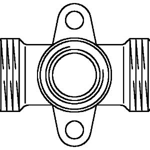 """Тройник с креплением Oventrop G 3/4"""" x Rp 1/2"""" x G 3/4"""" проход., Арт. 1506253"""
