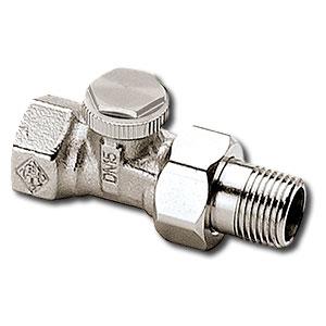 """Heimeier Радиаторный запорно-регулирующий клапан REGUTEC,  DN20(3/4""""), проходной, никелированная бронза, 0356-03.000"""