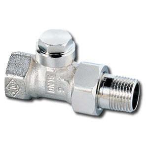 """Heimeier Радиаторный запорно-регулирующий клапан с функцией дренажа REGULUX,  DN15(1/2""""), проходной, никел бронза, 0352-02.000"""