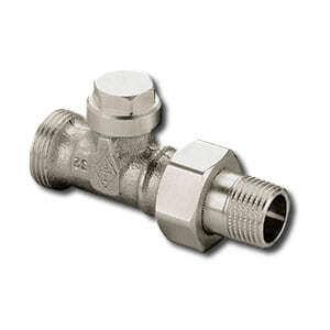 """Heimeier Радиаторный запорно-регулирующий клапан с функцией дренажа REGULUX, DN15(1/2""""), с наружной резьбой, проходной, никел бронза, 0414-02.000"""