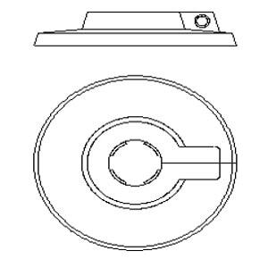 Защитная крышка одинарная Oventrop 14 мм, Арт. 1509661