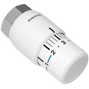 Термостатическая головка Oventrop Uni SH, артикул 1012066, белая, 7-28 С, с нулевой отметкой