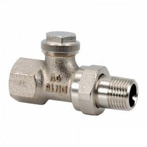 Запорный вентиль на обратку Oventrop Combi 3, прямой никелированный латунь Ду20 (3/4), артикул 1090463
