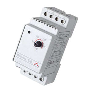 Терморегулятор DEVI Д-330, +5°C-+45°C с датч. на проводе. Установка на шину DIN. (140F1072)