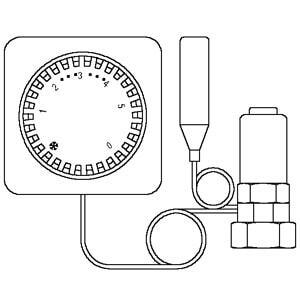 Термостат Oventrop Uni FH артикул 1012395, с дистанционной настройкой, с нулевой отметкой, капиллярная трубка 2 м, для внутрипольных конвекторов, с доп. дистанционным датчиком