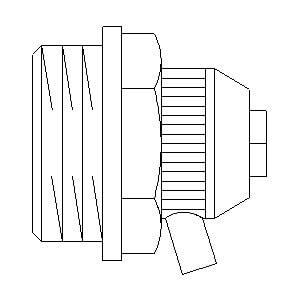 """Воздухоспускная пробка Oventrop латунь, никелированная, с отводом воды (вращающийся) артикул 1101604, с самоуплотнением, 1/2"""""""