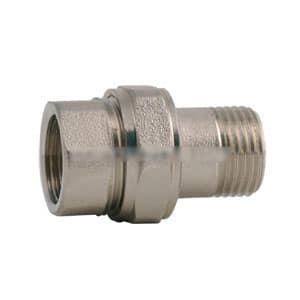 Сгон прямой ITAP 161 1 1/4 никелированный с плоской прокладкой