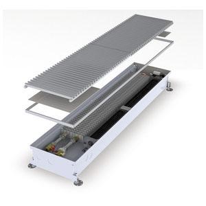 Конвектор встраиваемый в пол с вентилятором MINIB COIL-KT3 105-2000 (без решетки)