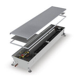Конвектор встраиваемый в пол с вентилятором MINIB COIL-HC-1250 (без решетки)