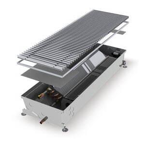 Конвектор встраиваемый в пол с вентилятором MINIB COIL-HCM-1250 (без решетки)