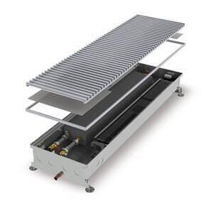 Конвектор встраиваемый в пол с вентилятором (для влажных помещений) MINIB COIL-KО-1000 (без решетки)