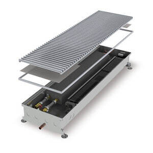 Конвектор встраиваемый в пол с вентилятором (для влажных помещений) MINIB COIL-KО-900 (без решетки)