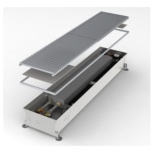 Конвектор встраиваемый в пол с вентилятором MINIB COIL-KT3-900 (без решетки)
