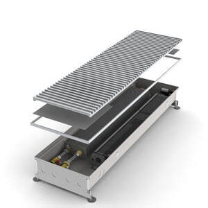 Конвектор встраиваемый в пол с вентилятором MINIB COIL-KT-900 (без решетки)
