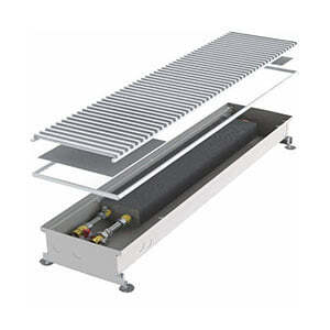 Конвектор встраиваемый в пол без вентилятора MINIB COIL-P-1250 (без решетки)