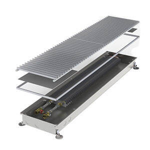 Конвектор встраиваемый в пол без вентилятора MINIB COIL-P80-3000 (без решетки)