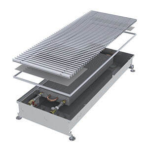 Конвектор встраиваемый в пол без вентилятора MINIB COIL-PMW125-1000 (без решетки)