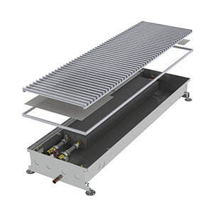Конвектор встраиваемый в пол без вентилятора MINIB COIL-PO-1000 (без решетки)
