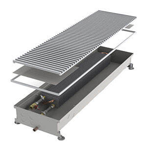 Конвектор встраиваемый в пол без вентилятора MINIB COIL-PO/4-2000 (без решетки)